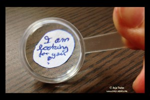 Looking for your story with a magnifying glass