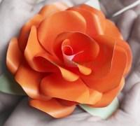 Бумажная роза мастер-класс