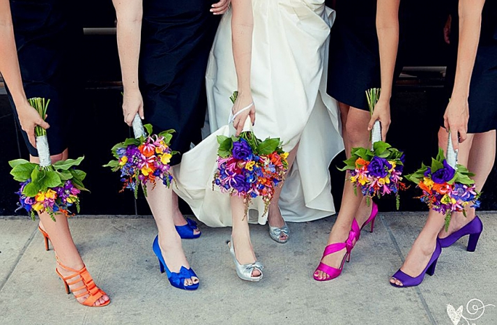 Bright shoes for bridesmaids crazyforus for What colour shoes with navy dress for wedding
