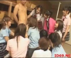 【乱交】セックスに興味がある教え子JK集めてハーレムセックスしたったw