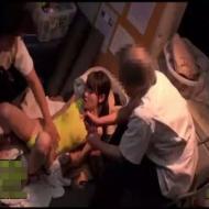 【監禁レイプ動画】マッサージ師の凶悪な犯行!女子高生の両手を縛り媚薬で発情させて肉棒2本でやりたい放題の生姦レイプ!