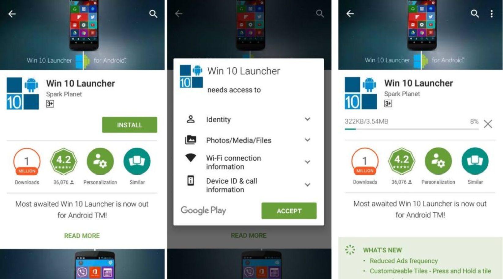 download Windows 10 launcher apk