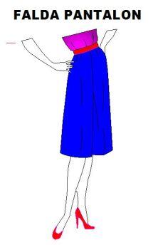 Kit para diseñar falda pantalón de dama