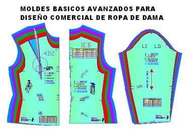 Moldes o patrones de scaos sastre de mujer en 5 tallas comerciales