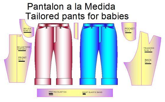 Tallaje de Pantalon de vestir a la medida