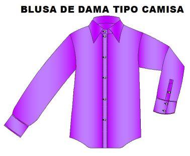 Moldes para confeccionar blusa esilo camisa.