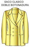 Patrones de sacos con doble cruce o doble botonadura de dama