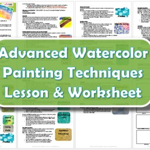 advanced watercolor painting techniques lesson plan worksheet. Black Bedroom Furniture Sets. Home Design Ideas