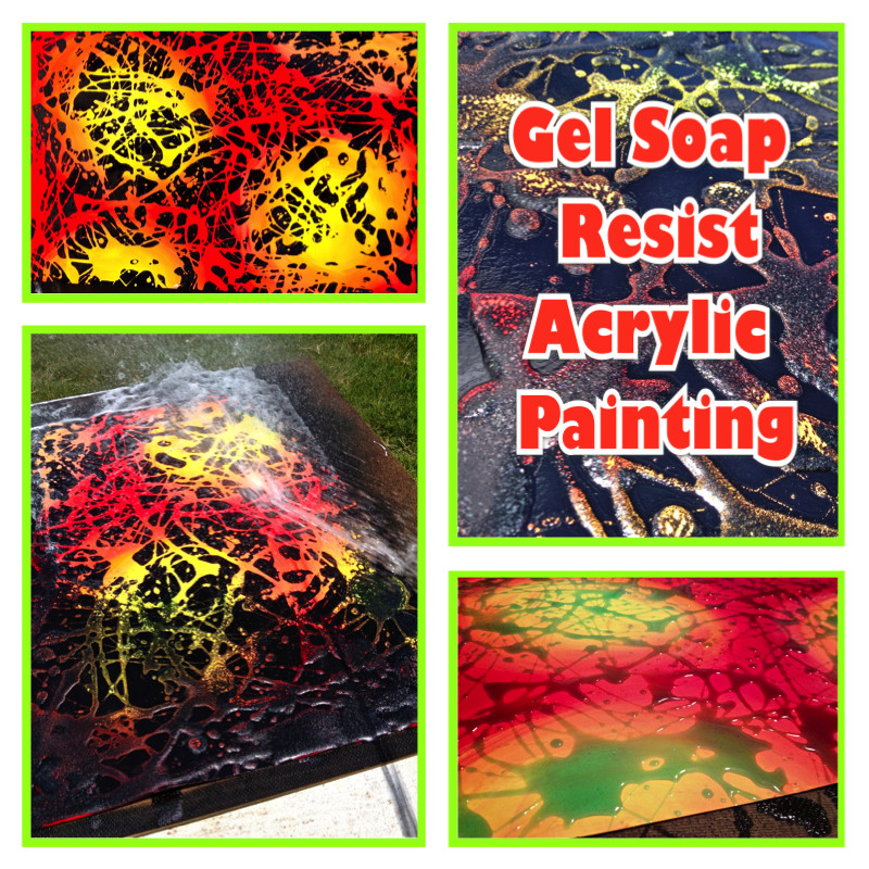 Gel Soap Resist Acrylic Painting Lesson