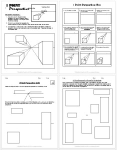 1 point perspective lesson plan 1 boxes. Black Bedroom Furniture Sets. Home Design Ideas