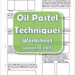 Oil Pastel Techniques Worksheet