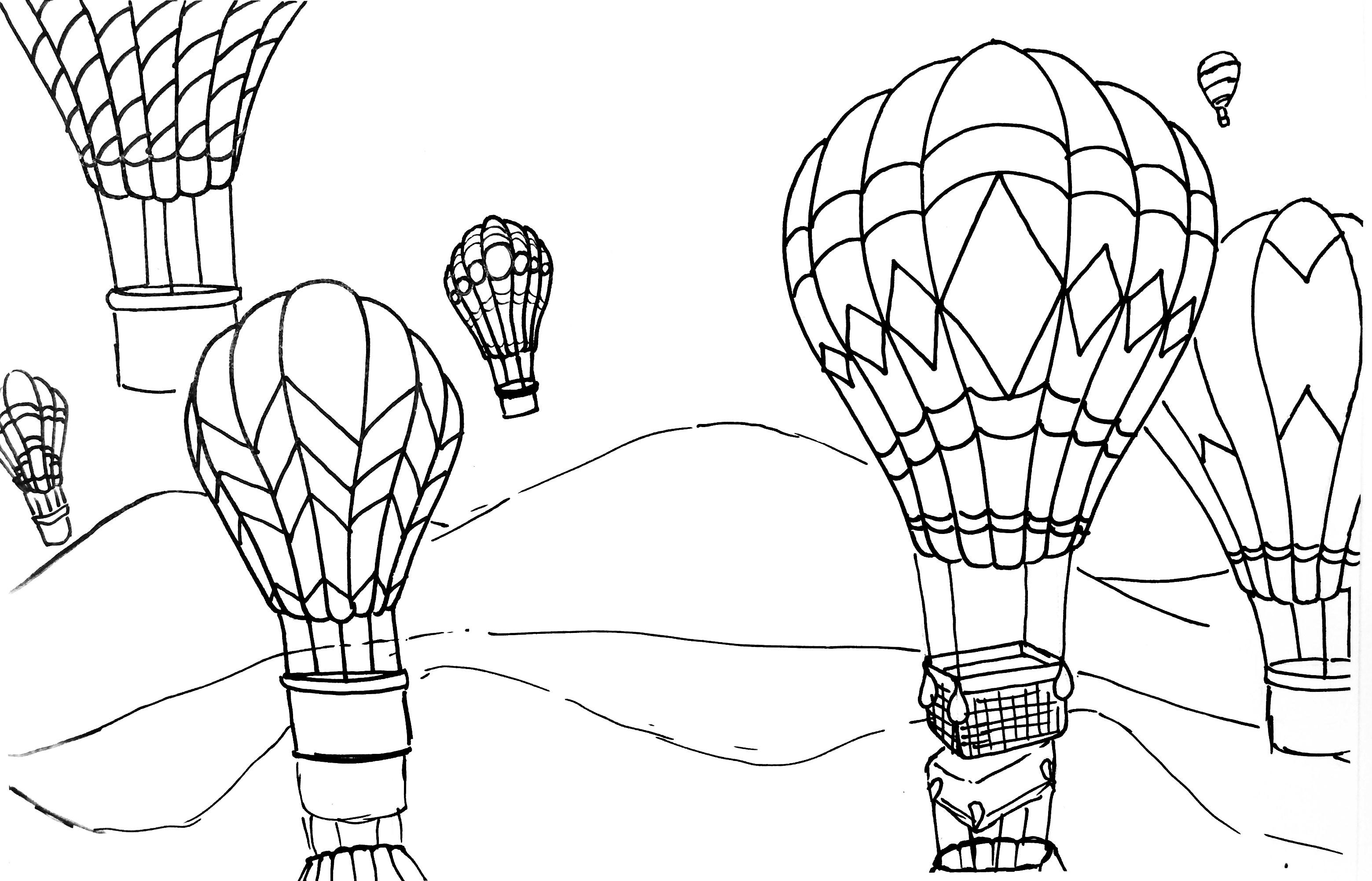 Hot Air Balloon Rhythm, Pattern & Variety Watercolor