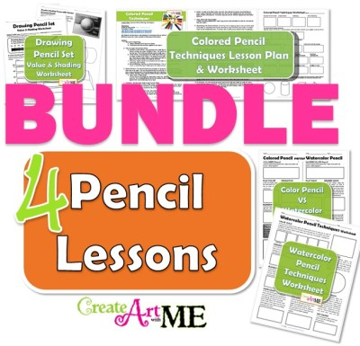 pencil lessons bundle colored pencil watercolor pencil drawing pencil. Black Bedroom Furniture Sets. Home Design Ideas