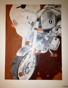 motorcycle mixed media art lesson high school. Black Bedroom Furniture Sets. Home Design Ideas