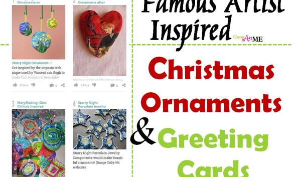 Famous Artist Inspired Christmas Ornaments and Greeting Cards