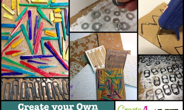 Create your Own Texture Rubbing Plates