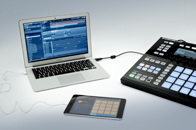 Round-trip workflow is one major advantage to iMaschine. It outputs standard audio files, so in addition to bringing full project files into desktop Maschine, you can use the audio samples in other tools.