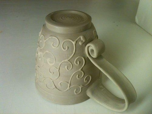Medium Of Pottery Mug Handles