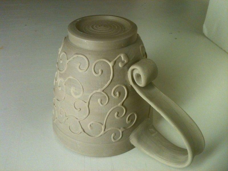 Large Of Pottery Mug Handles