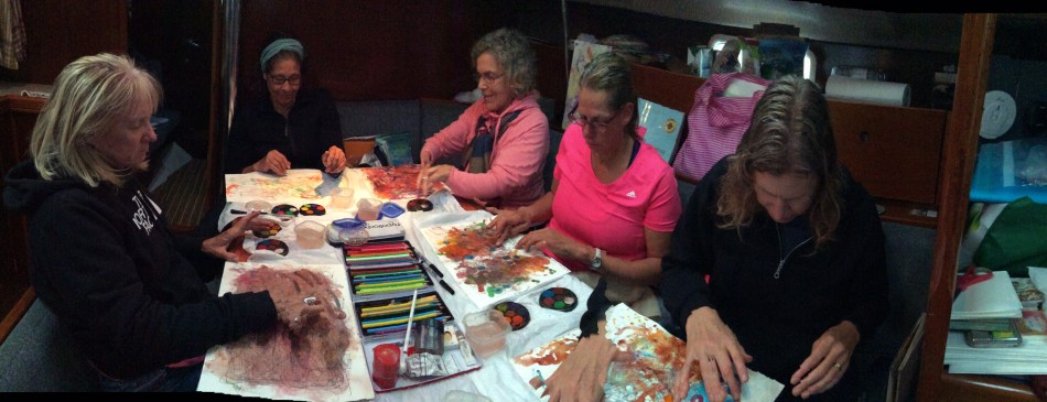 Painting onboard during Sail Stretch Create 2015.