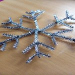 Snow Week Day Three:  Glittery Chenille Stem Snowflakes