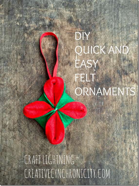 Diy Quick And Easy Felt Ornaments Craft Lightning Holiday
