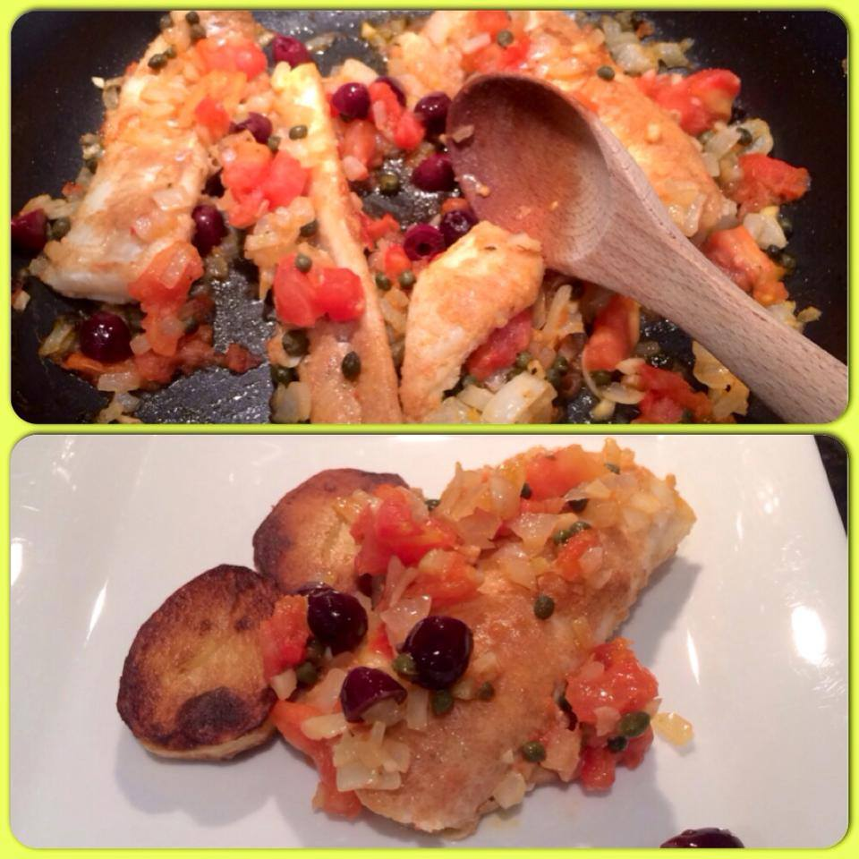 Cod Livornese with Couscous
