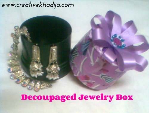 decoupaged jewelry box making
