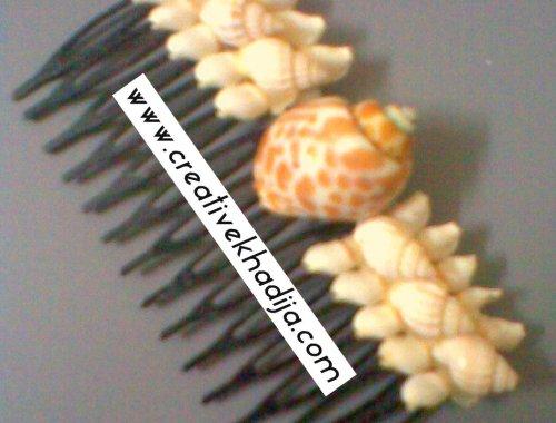 shells designed hair pin ideas