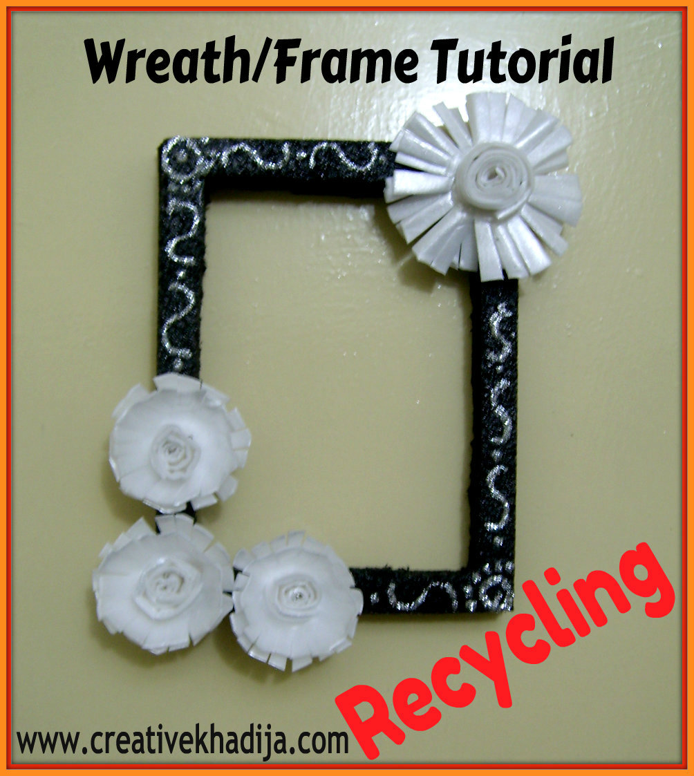 wreath making or photo frame tutorial