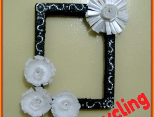 wreath making or photo frame tutorial