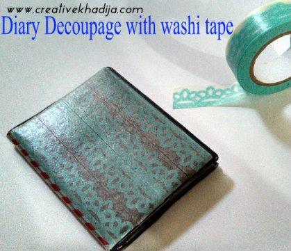 washi tape diary
