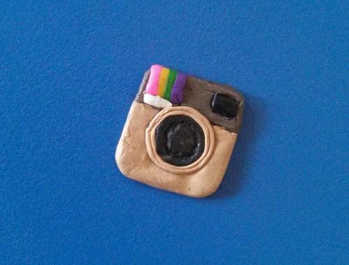 plymer clay instagram logo handmade