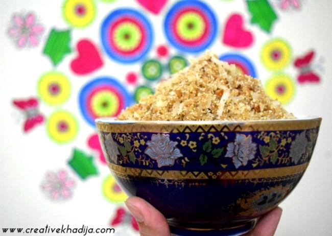 coconut panjeeri sweet pakistani recipes