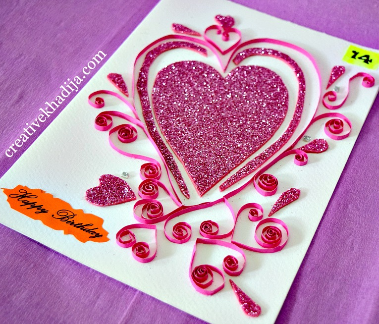 Paper quilling cards making ideas for eid and birthday for Creative ideas to make greeting cards
