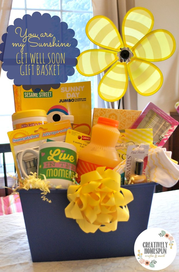 Diy you are my sunshine get well gift basket