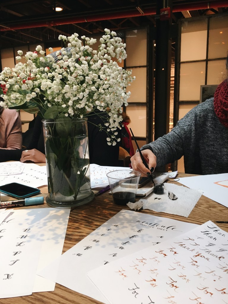 lettering & calligraphy DIY class suzy lee
