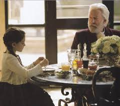 Erica Bierman as President Snow's Granddaughter in Hunger Games