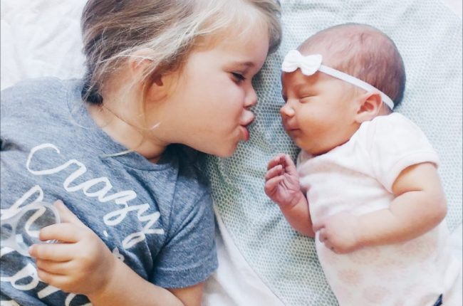 Newborn Photography of Sisters