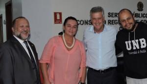 Hermes Alcântara, Flávia Portela e Rodrigo Rollemberg.