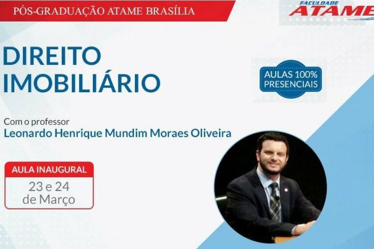 AULA INAUGURAL: Direito Imobiliário na ATAME Brasília