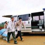Newsphoto of accident scene in Yangshuo Baloon crash