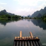 The view down the Yulong River is amazing.