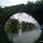Yulong (dragon bridge) over the Yulong river, China