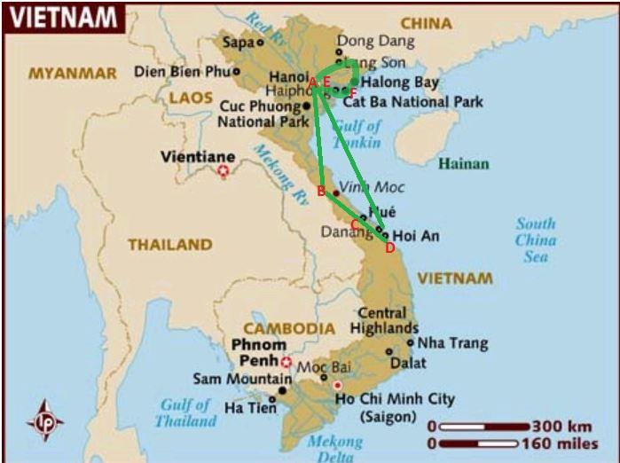 2013 Vietnam Itinerary