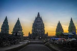 Prambanan main temples.