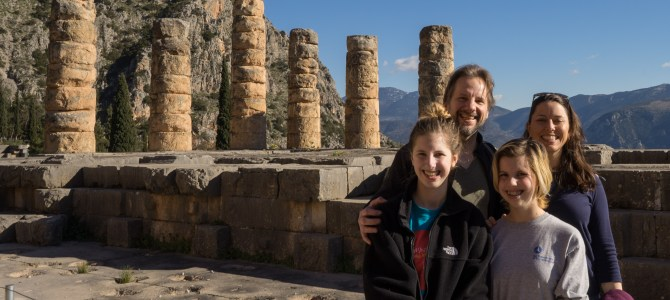 Greece – Day 3-4 From the high heavens to the center of the earth at Delphi