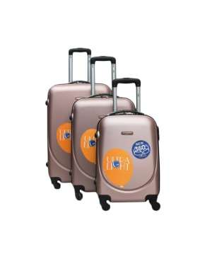 set 3 trolere abs 4 roti cairo pink gold