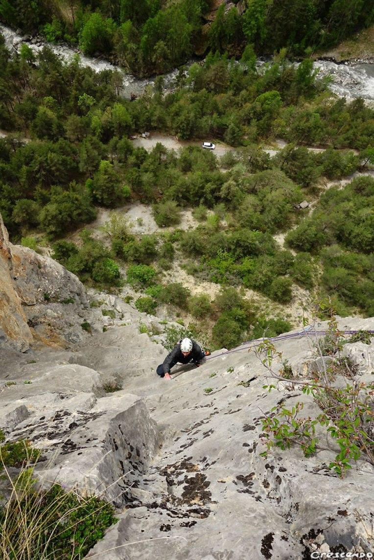 escalade Fournel, Transdalle Express, grande voie Hautes-Alpes, séjour escalade