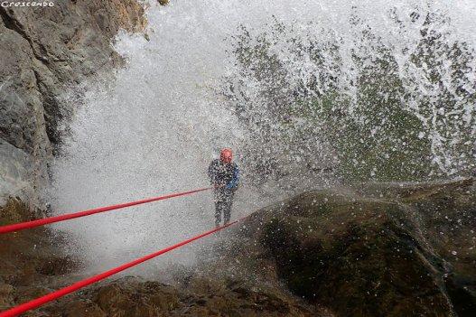 canyoning cascade, se former en canyon, grande course canyon